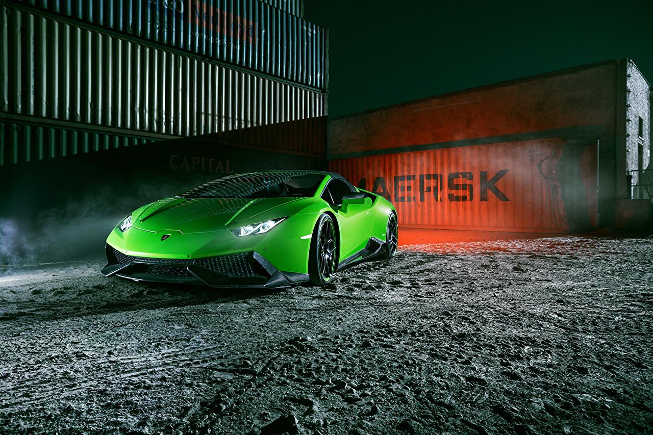 Фотографии 2016 Novitec Torado Lamborghini Huracán LP 610-4 Spyder желто зеленый Автомобили Ламборгини Салатовый салатовые салатовая авто машина машины автомобиль