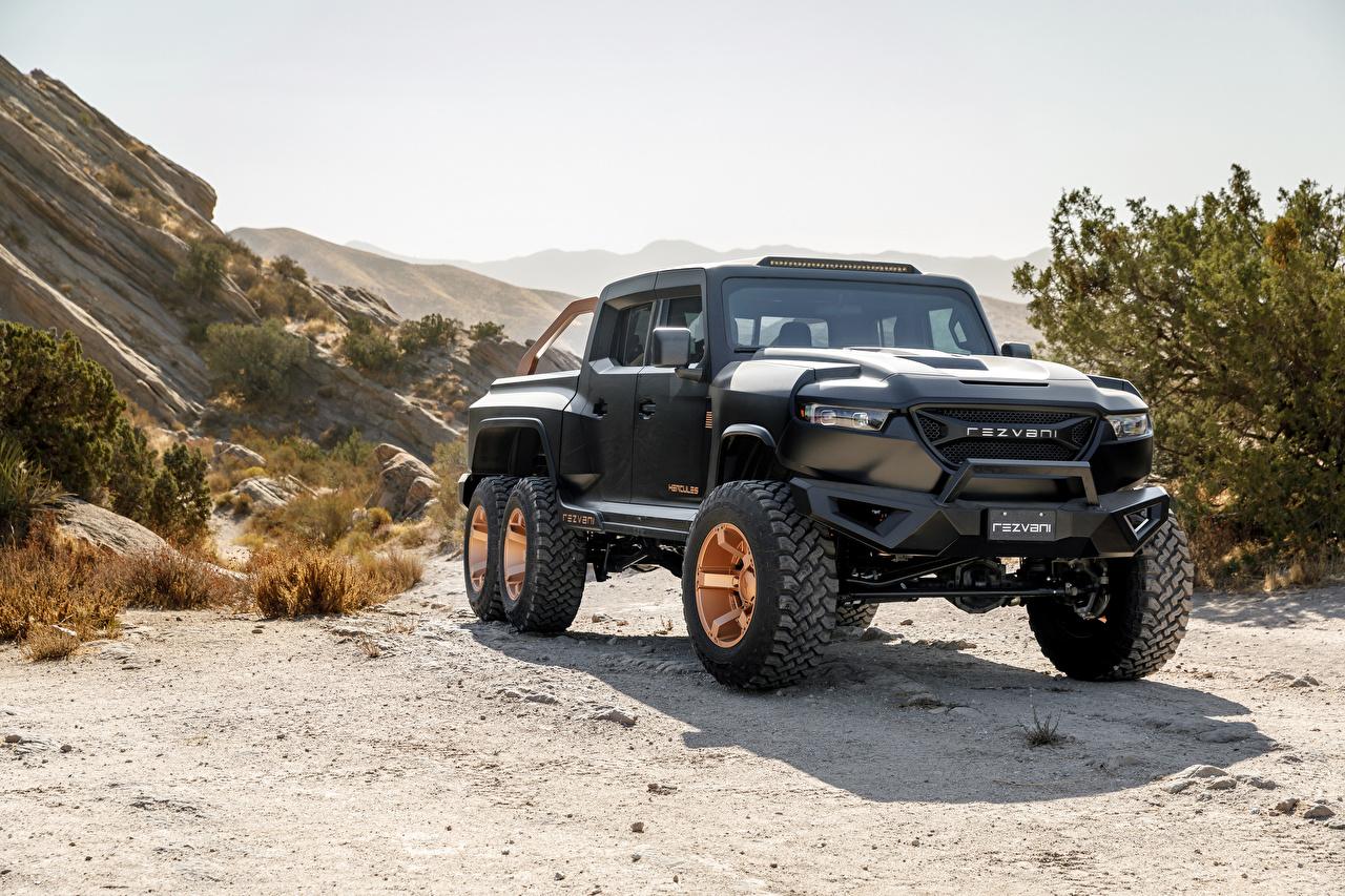 Фото Rezvani Hercules 6x6, 2020 Пикап кузов черная автомобиль Черный черные черных авто машины машина Автомобили
