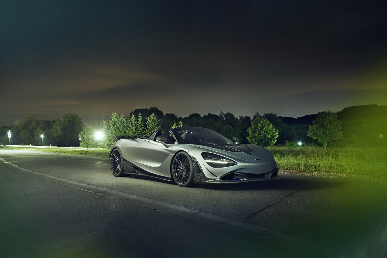 Картинка Макларен 2019-20 Novitec McLaren 720S Spider Кабриолет серые автомобиль кабриолета серая Серый авто машины машина Автомобили
