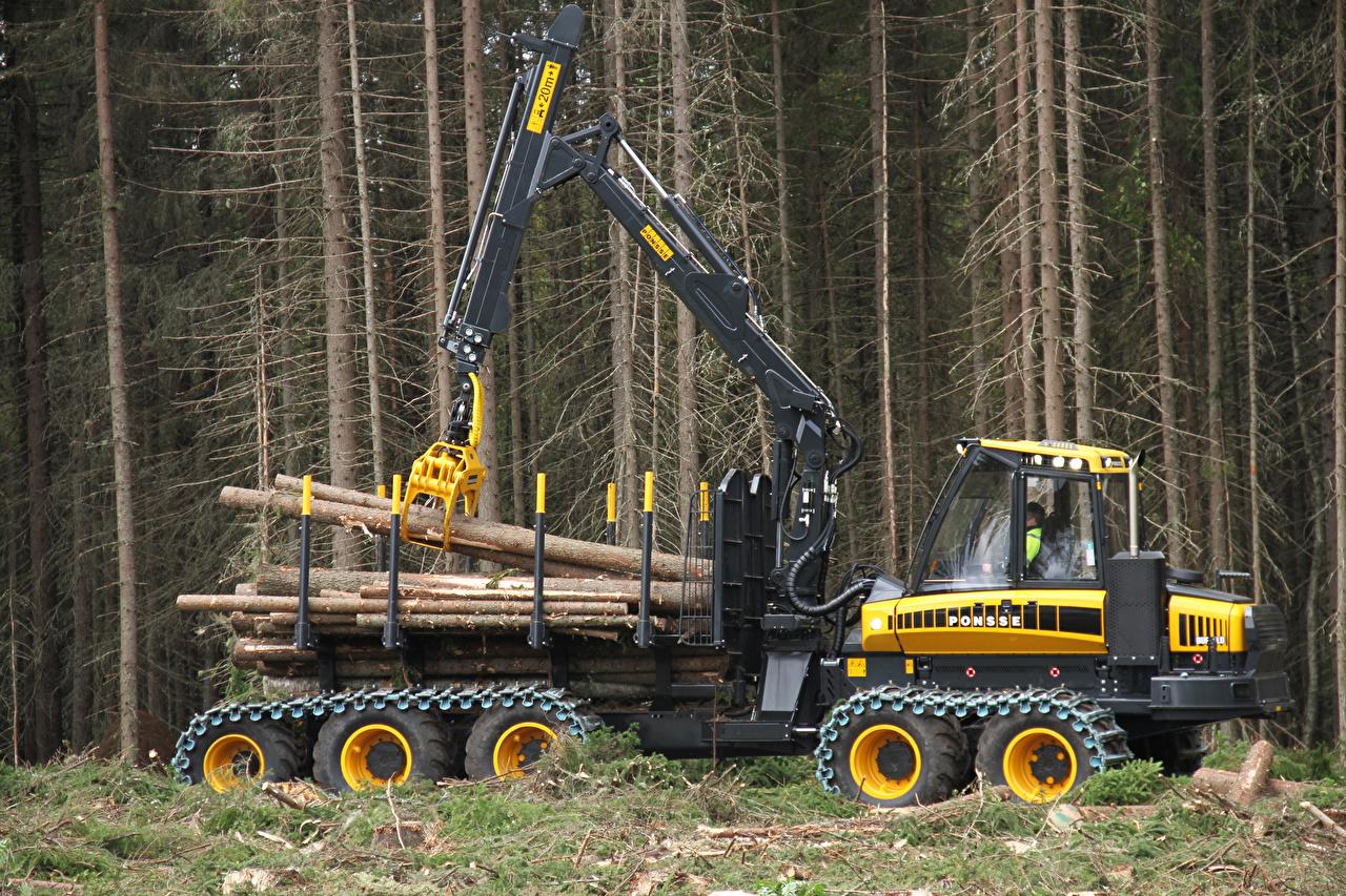Обои для рабочего стола Сбоку 2012-17 Ponsse Buffalo 10W дерево Форвардер дерева Деревья деревьев