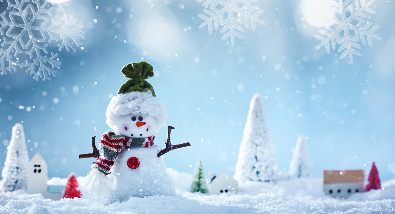 Фото Рождество Снежинки Снеговики Новый год снежинка снеговик снеговика