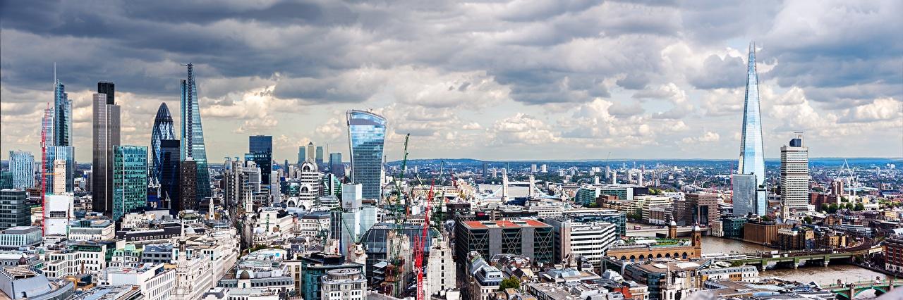 Картинка лондоне Англия Небоскребы Дома город Лондон Города Здания