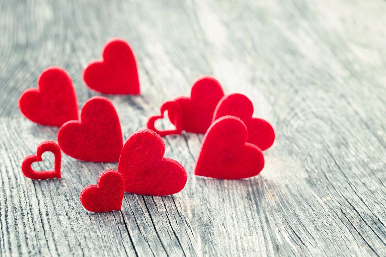Обои для рабочего стола День святого Валентина Сердце Размытый фон