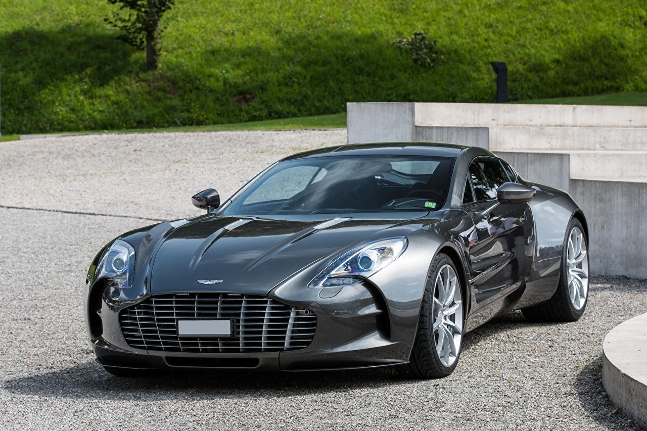 Обои для рабочего стола Астон мартин Super ONE-77 Серый машина Aston Martin серые серая авто машины автомобиль Автомобили