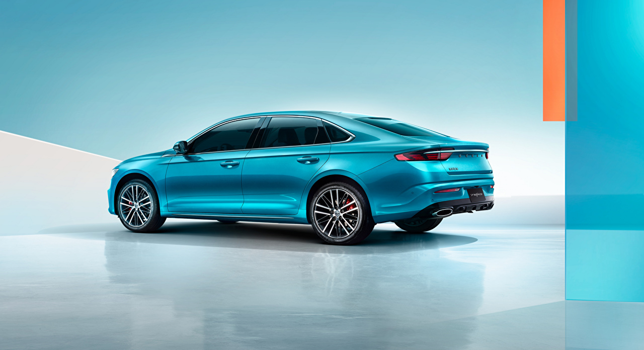 Картинка Geely Китайские Preface, 2020 голубые Сбоку Металлик Автомобили китайский китайская голубая Голубой голубых авто машины машина автомобиль