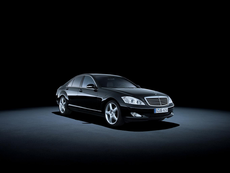 Фотография Mercedes-Benz 2005-09 S 500 Ретро черная Металлик Автомобили Мерседес бенц черных черные Черный Винтаж старинные авто машина машины автомобиль