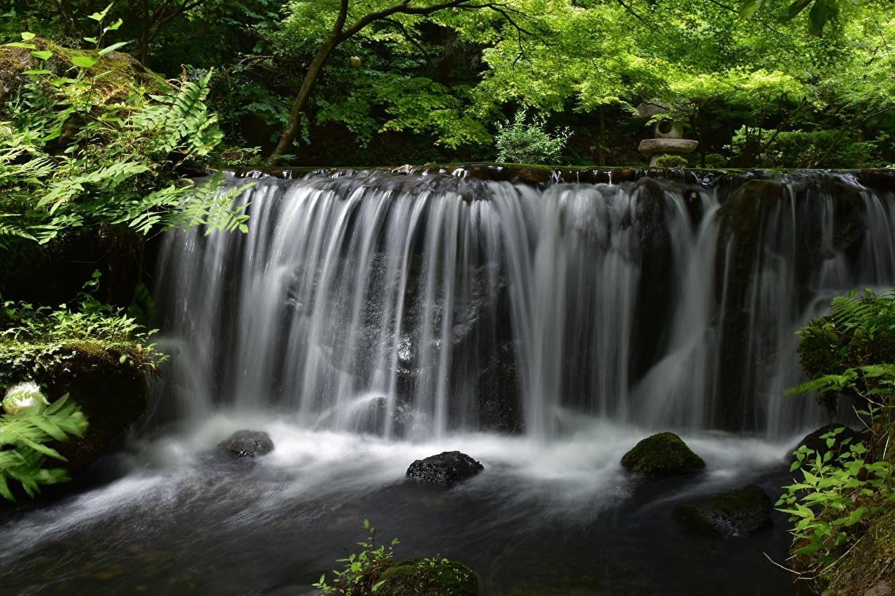 Фотография Природа Водопады река Камни Реки речка Камень