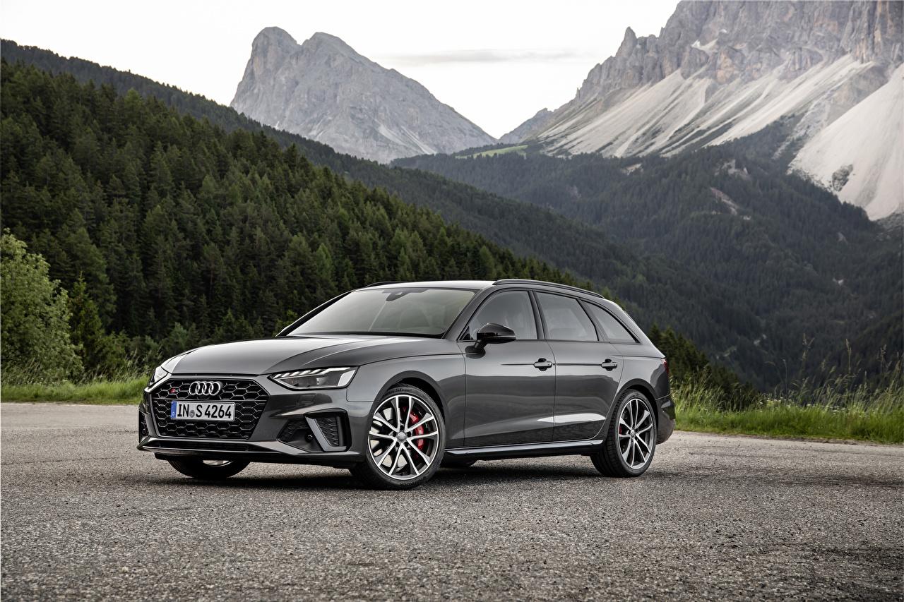 Обои для рабочего стола Audi 2019 S4 Avant TDI Worldwide серые Металлик Автомобили Ауди Серый серая авто машина машины автомобиль
