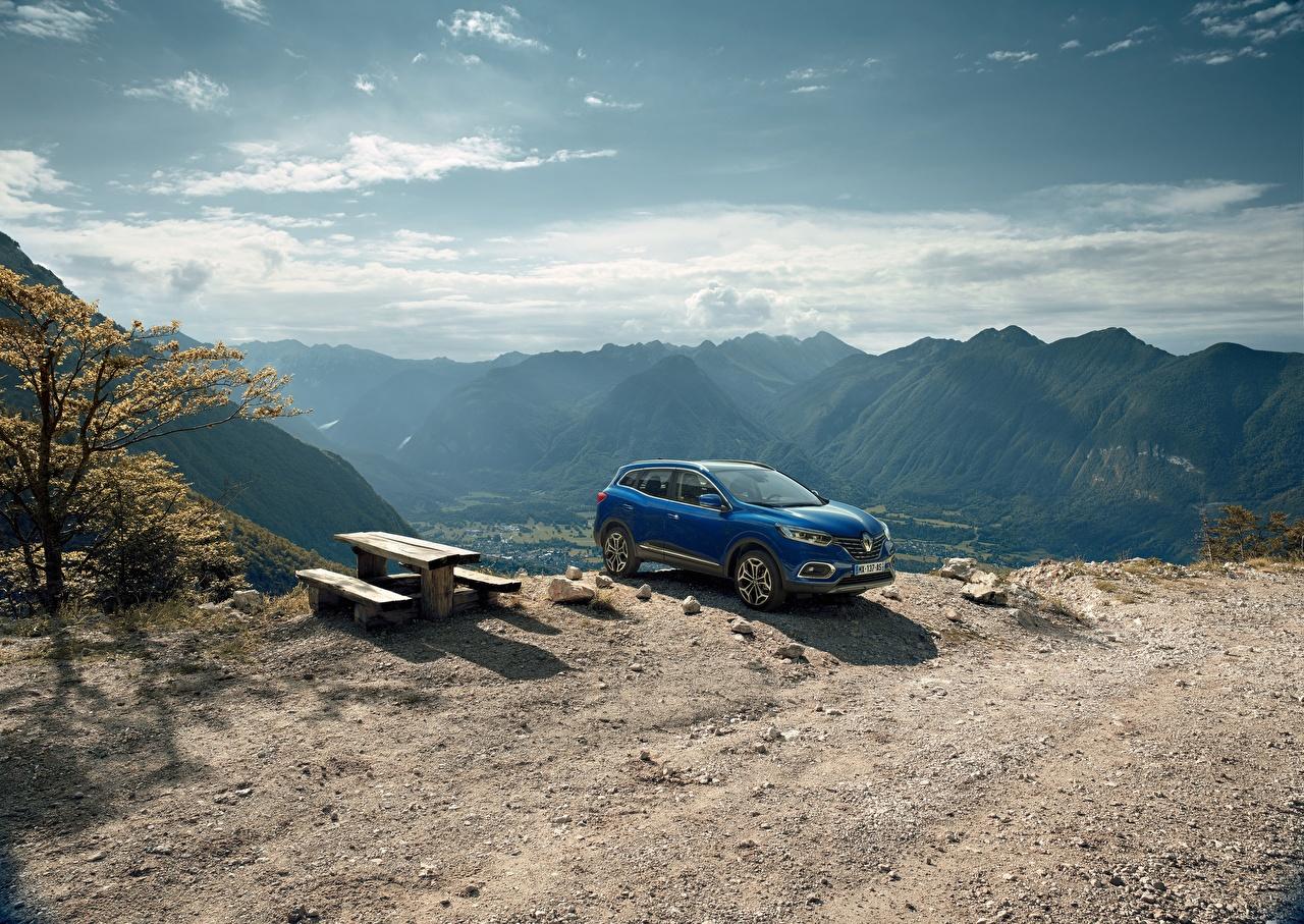 Картинка Рено 2018 Kadjar Worldwide Синий Автомобили Renault Авто Машины