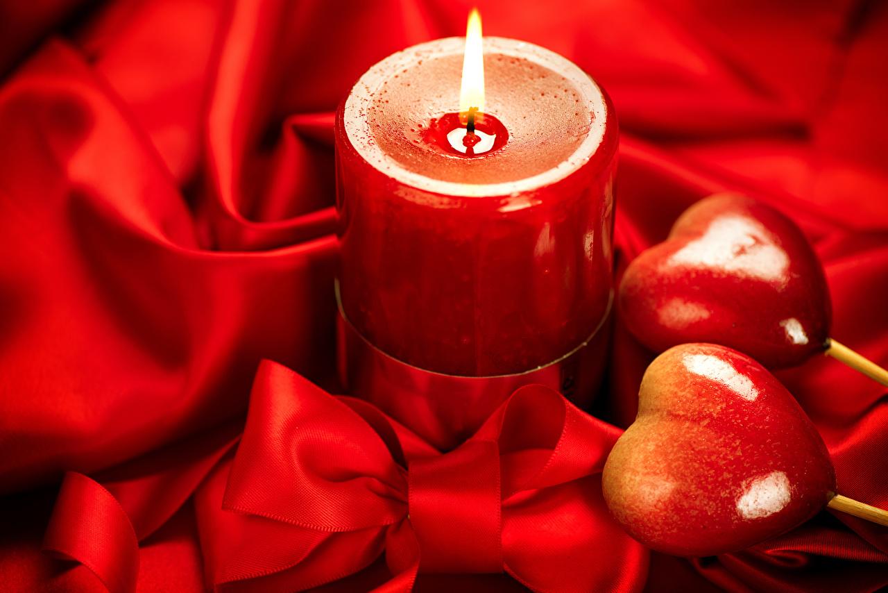 Картинки День святого Валентина сердца красные бант Свечи День всех влюблённых серце Сердце сердечко красных Красный красная Бантик бантики