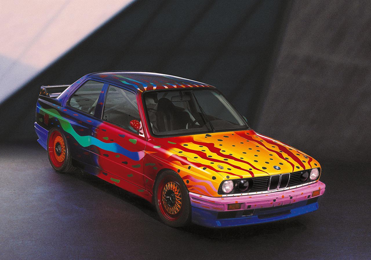 Обои для рабочего стола БМВ Тюнинг 1989 M3 Group A Art Car by Ken Done старинные авто BMW Стайлинг Ретро Винтаж машина машины автомобиль Автомобили