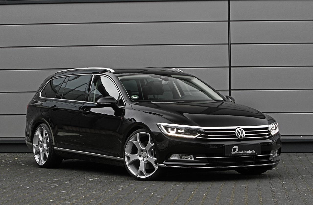 Фотографии Фольксваген Passat Черный машина Volkswagen черных черные черная авто машины автомобиль Автомобили