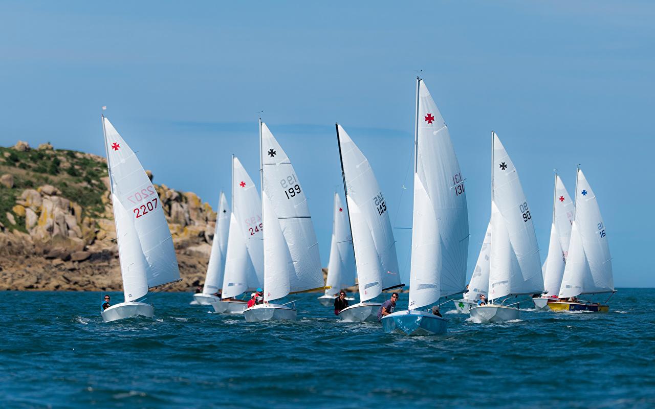 Фотографии Regatta Море Спорт Лодки Парусные спортивные спортивная спортивный