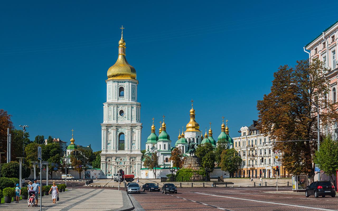 Фотографии Киев Собор Украина Saint Sophia Cathedral Здания Города Дома город