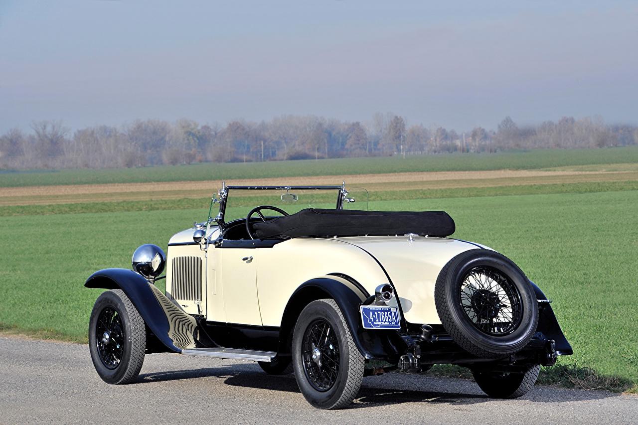 Обои для рабочего стола 1929 Chrysler Series 75 Roadster Родстер Ретро Сзади машины Крайслер винтаж старинные авто машина вид сзади автомобиль Автомобили