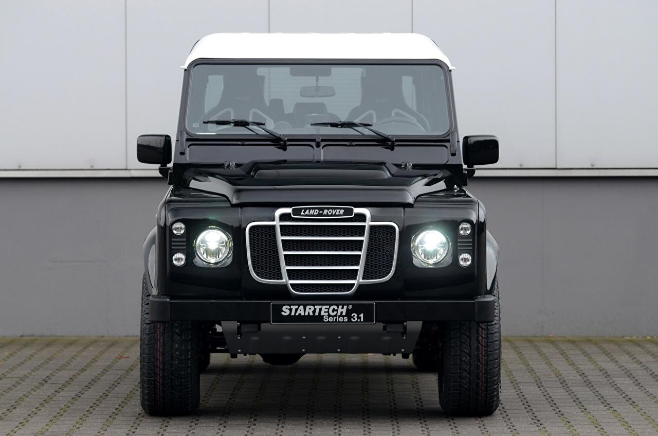 Фотография Range Rover Внедорожник Defender, 2013, Startech, Series 3.1 Concept Черный Спереди автомобиль Land Rover SUV черная черные черных авто машины машина Автомобили