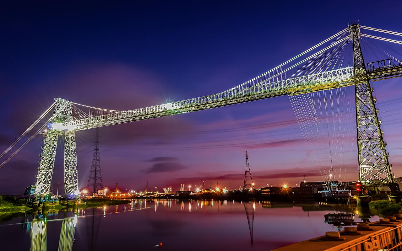 Фотография мост Небо Рассветы и закаты Реки Уличные фонари город Мосты рассвет и закат река речка Города