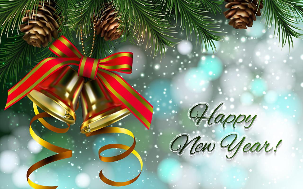 Фотографии Рождество английская снега бант шишка колокольчик Новый год инглийские Английский Снег снеге снегу Шишки Бантик бантики Колокольчики