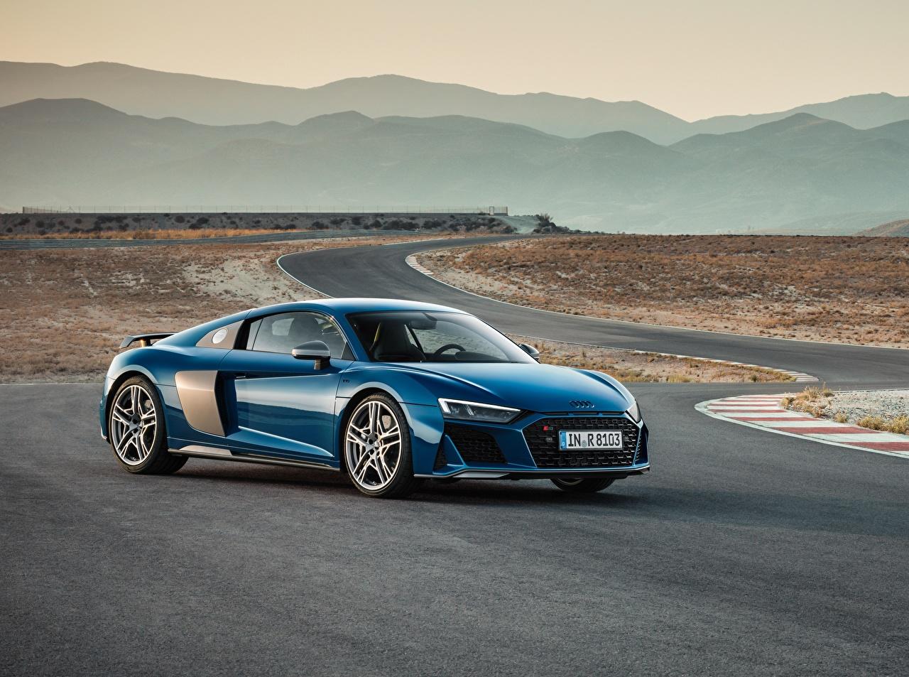 Картинки Ауди R8 Синий авто Audi синяя синие синих машина машины Автомобили автомобиль