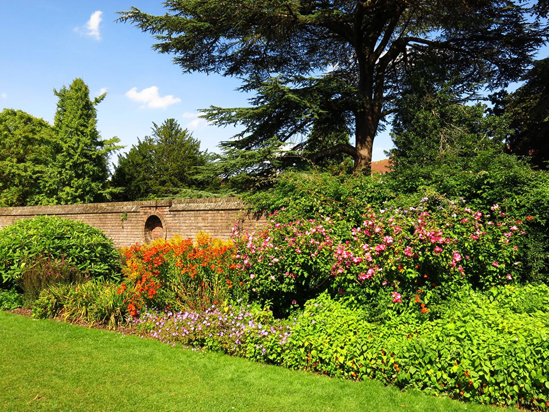 Обои для рабочего стола лондоне Англия York House Gardens Природа парк Трава Кусты дерево Лондон Парки траве кустов дерева Деревья деревьев