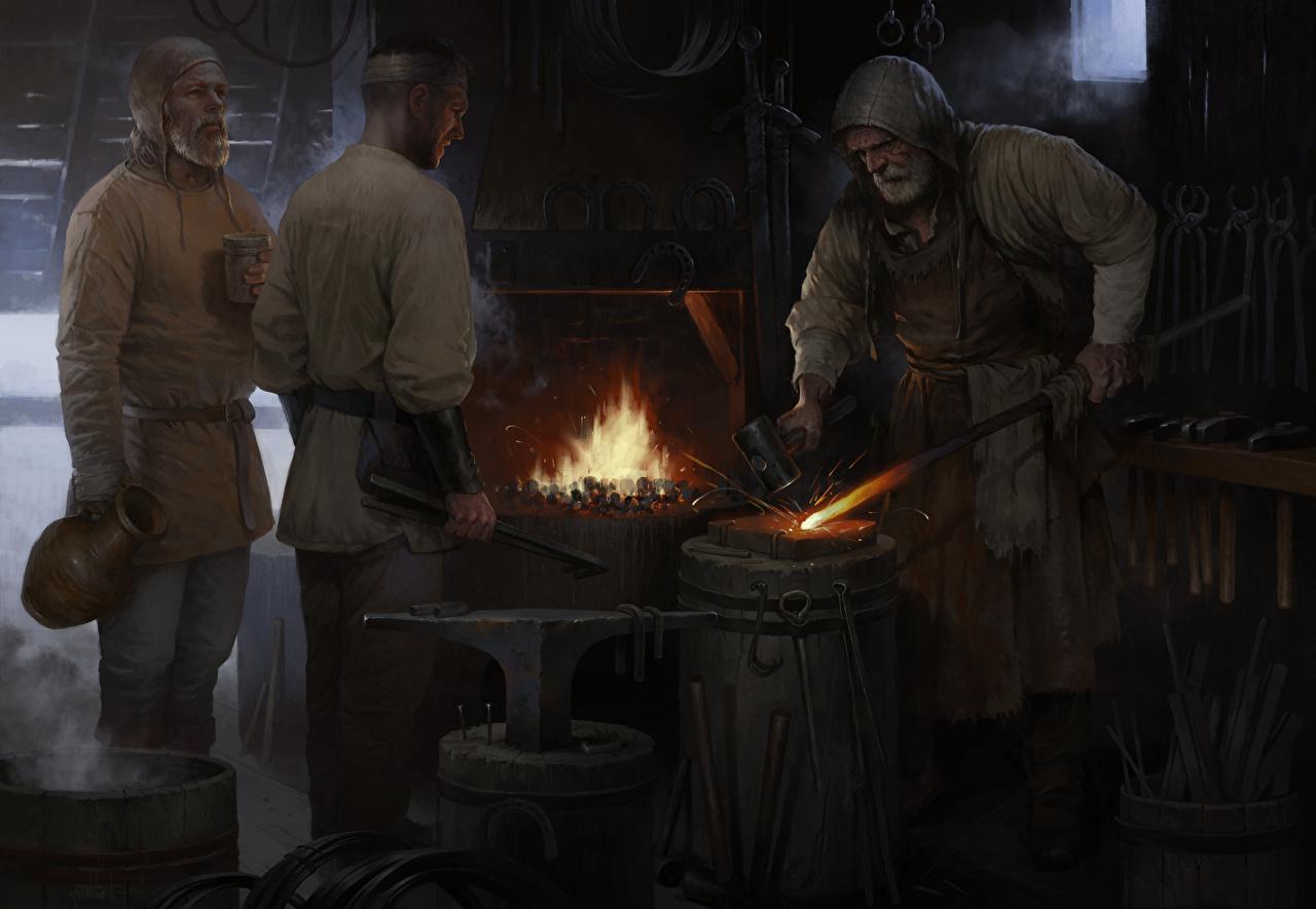 Фото Kingdom Come: Deliverance Мужчины Кузнец Фэнтези Игры Фантастика