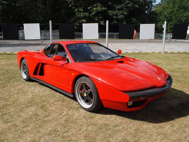 Фотография Ferrari Стайлинг 1993 FZ93 (Zagato) Ретро красная Автомобили Тюнинг Феррари винтаж Красный красные красных старинные авто машины машина автомобиль