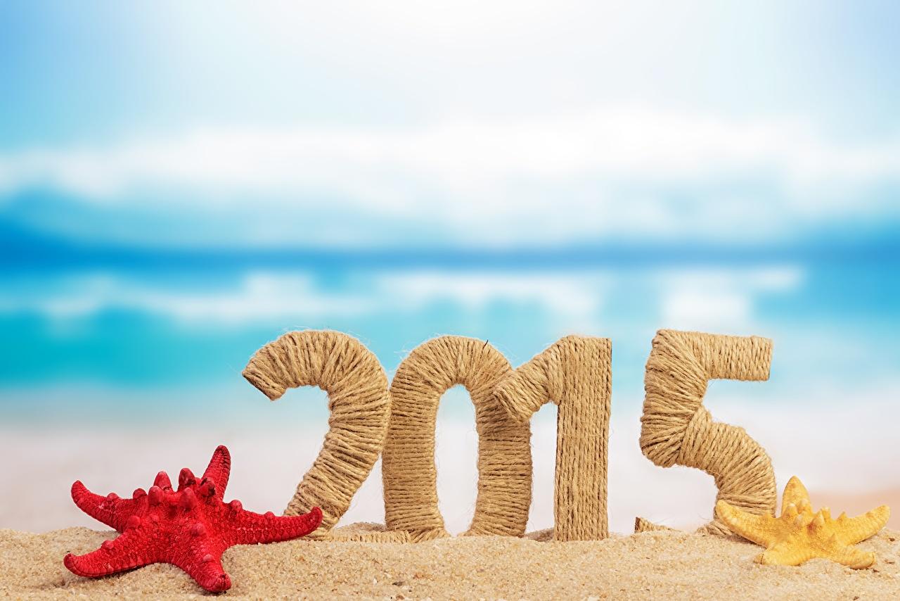 Фотографии 2015 Морские звезды Новый год песке Рождество песка Песок