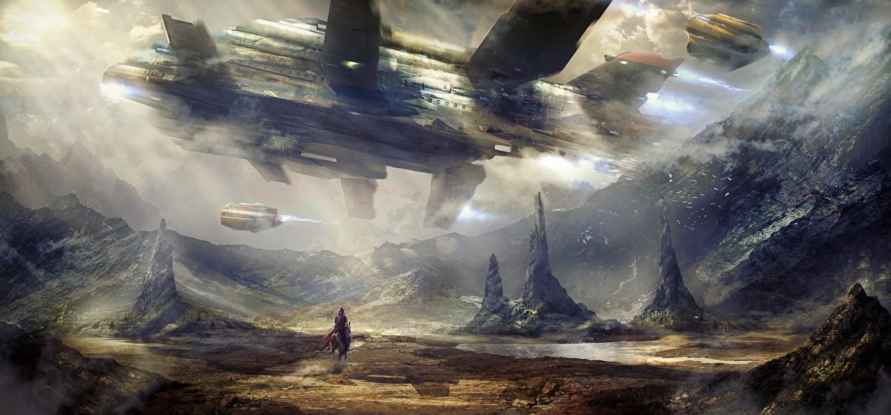 Фотографии Фантастика Корабли Фантастический мир Фэнтези корабль