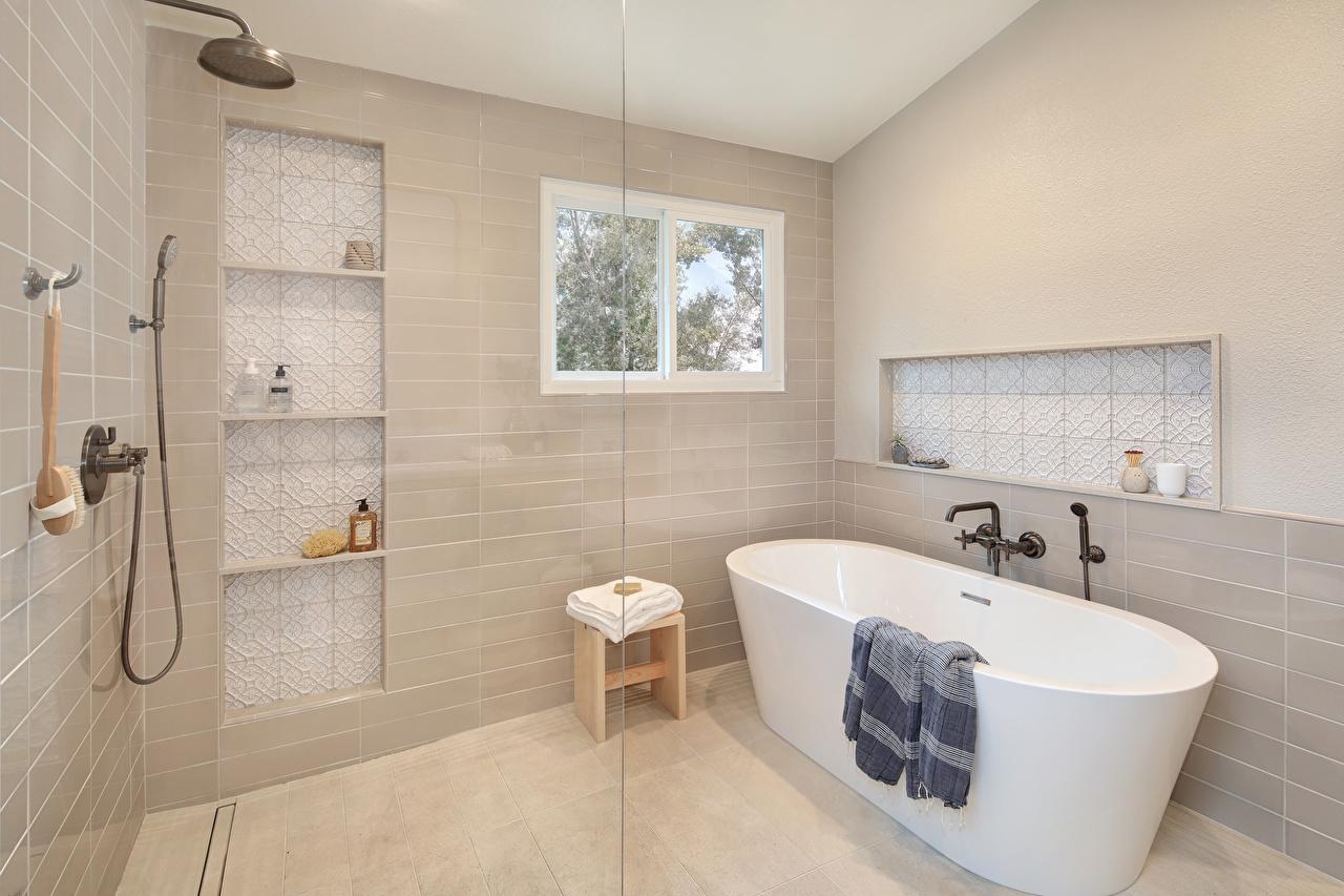 Обои для рабочего стола Ванная Интерьер Дизайн дизайна