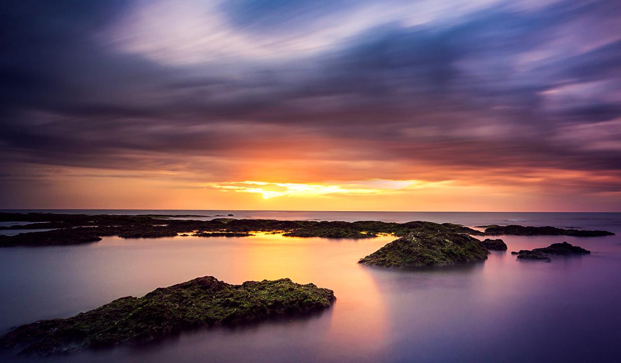 Фотография Море Природа Рассветы и закаты Горизонт рассвет и закат горизонта