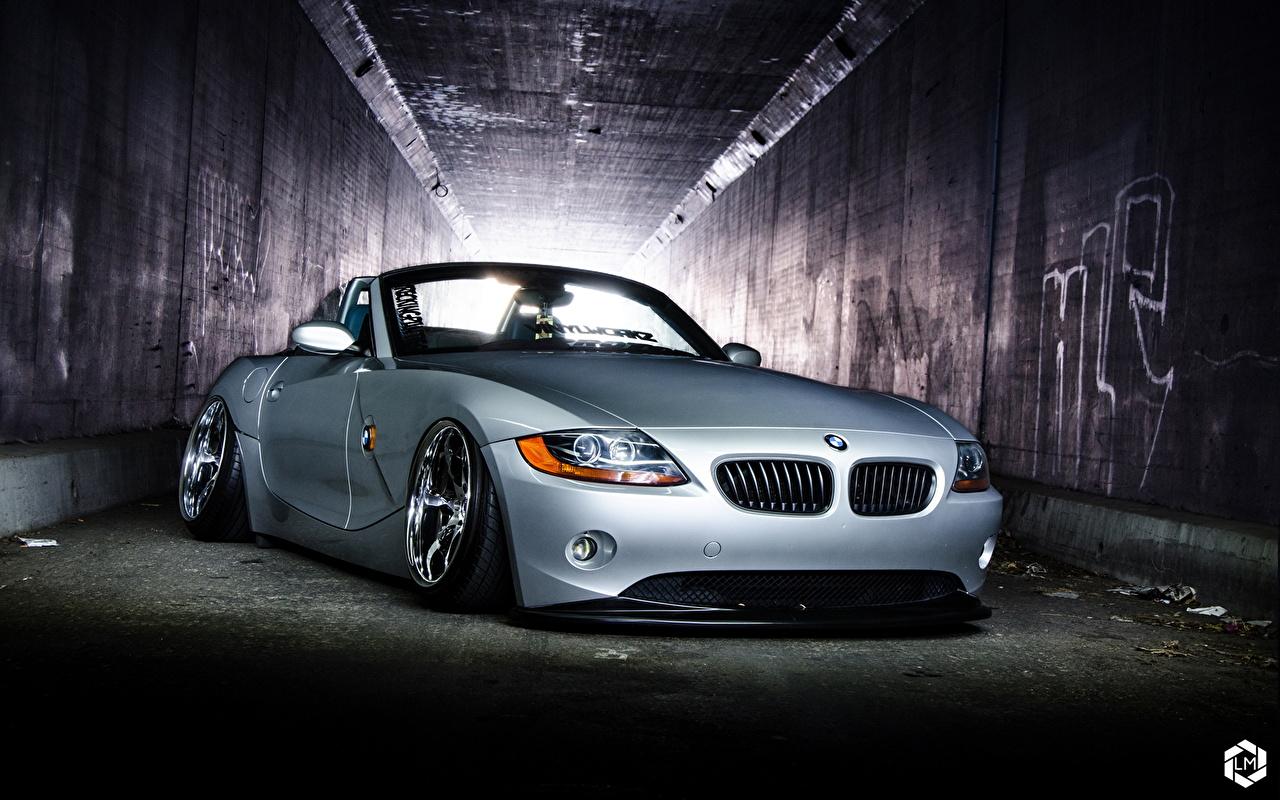 Картинка BMW BMW Z4 серебряный Спереди Автомобили БМВ серебряная Серебристый серебристая авто машины машина автомобиль