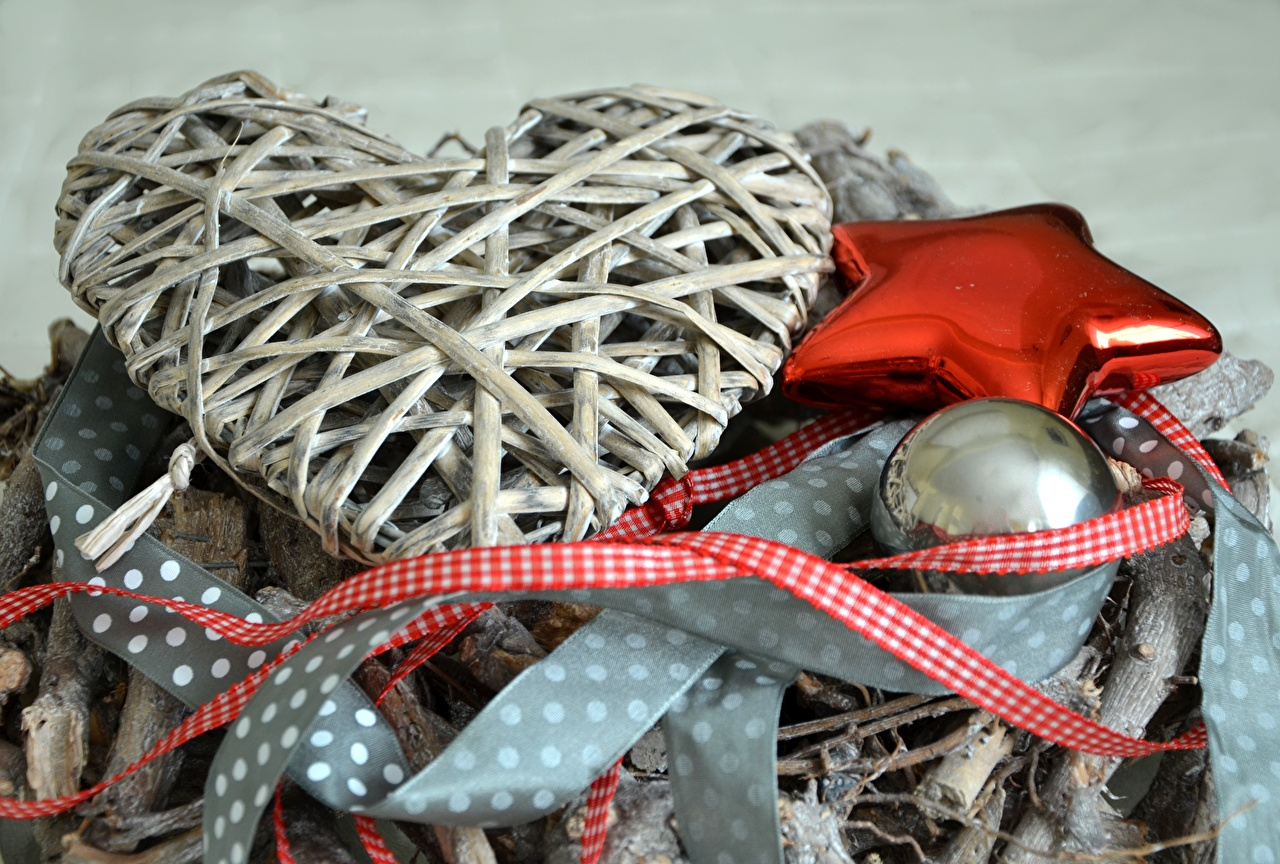 Фотография Рождество Звездочки Сердце Шар Праздники Новый год серце сердца сердечко Шарики