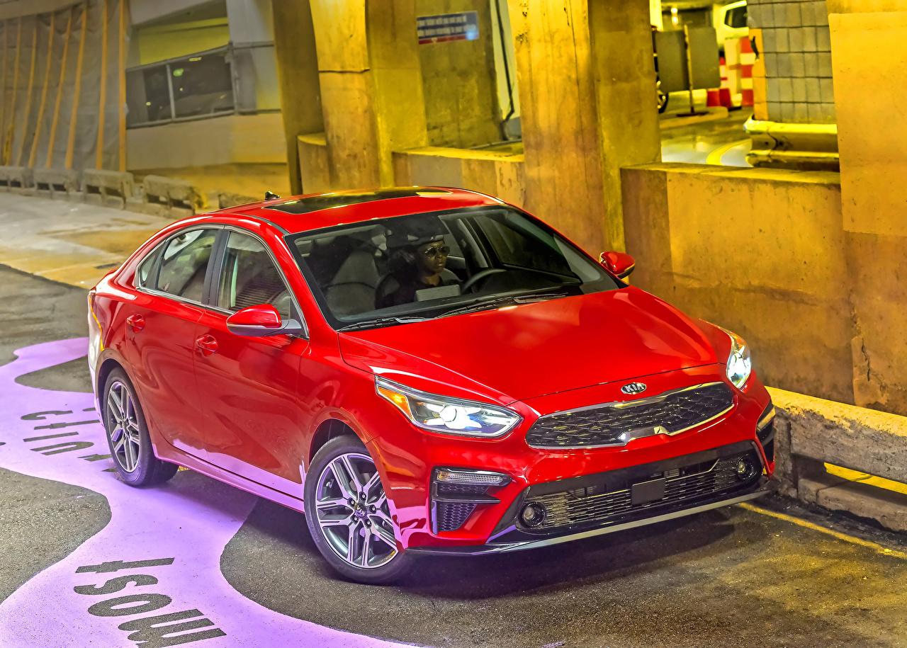 Картинка KIA 2019 Forte Красный машина Металлик Киа красных красные красная авто машины автомобиль Автомобили