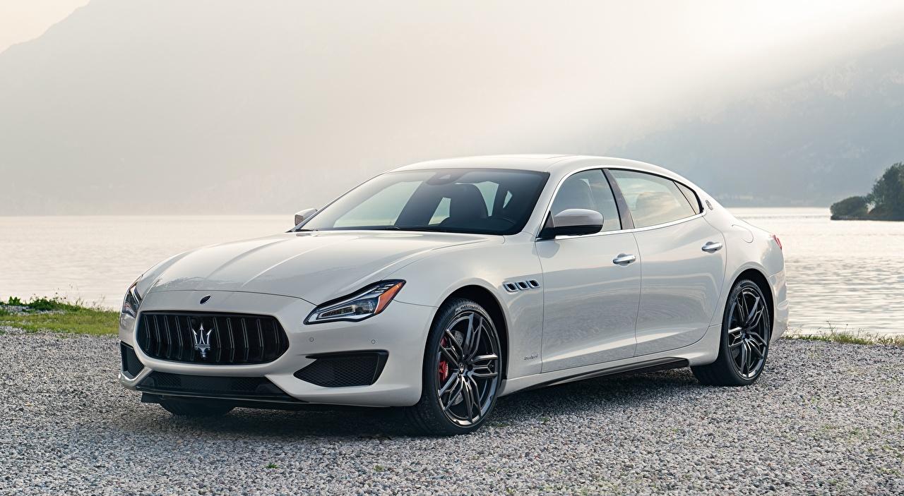 Картинка Maserati Quattroporte, GTS, GranSport, US-spec, 2018 Седан белые Металлик Автомобили Мазерати белая Белый белых авто машины машина автомобиль