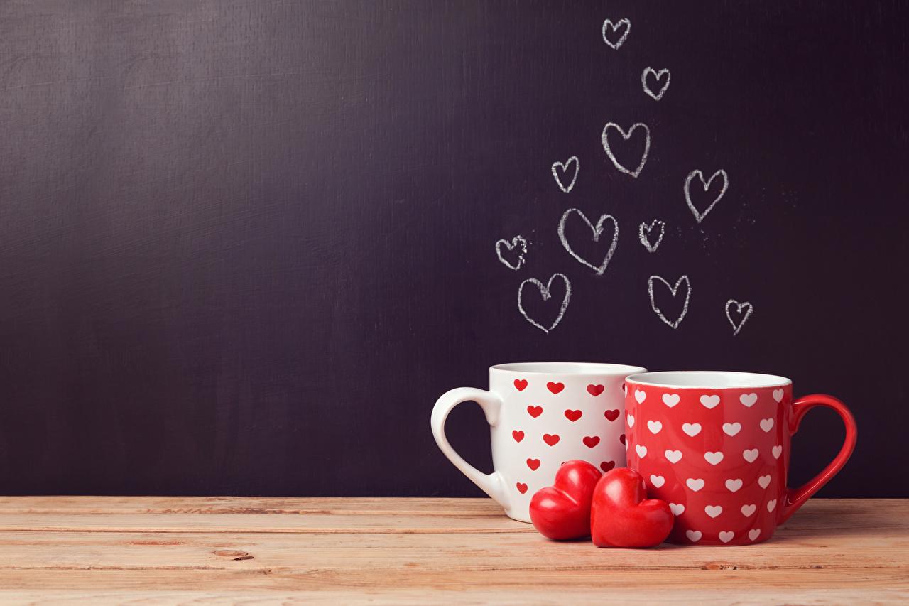 Обои День всех влюблённых сердечко вдвоем Пища Чашка Доски День святого Валентина Сердце 2 Двое Еда Продукты питания