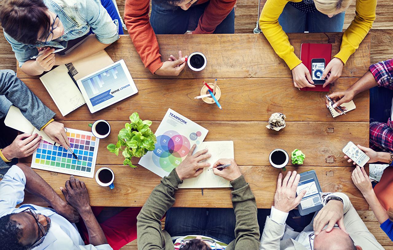 Фотографии workgroup technology design Кофе Стол рука Руки столы стола