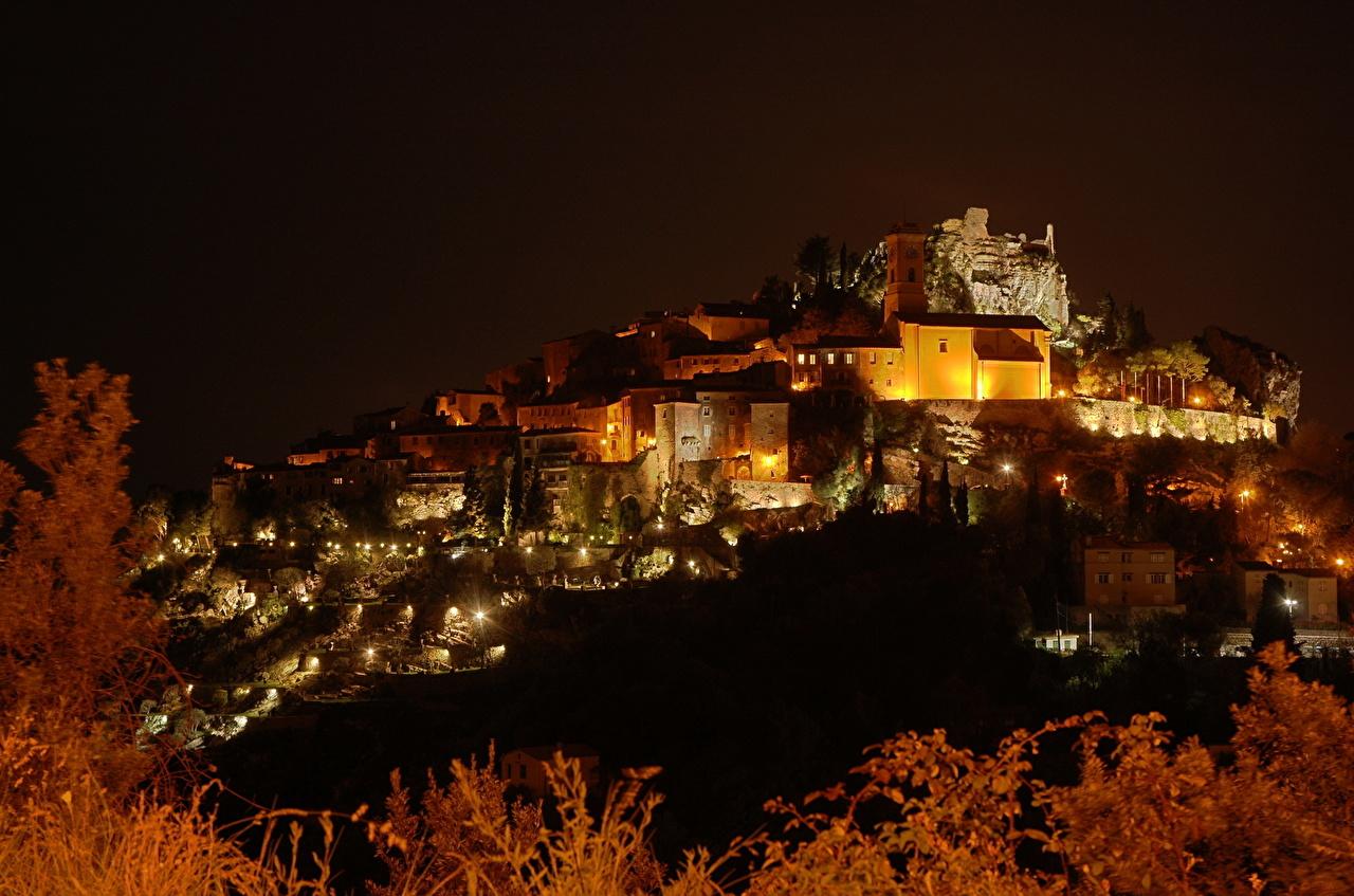 Фотография Франция island Port Cros Ночные Города Ночь ночью в ночи город
