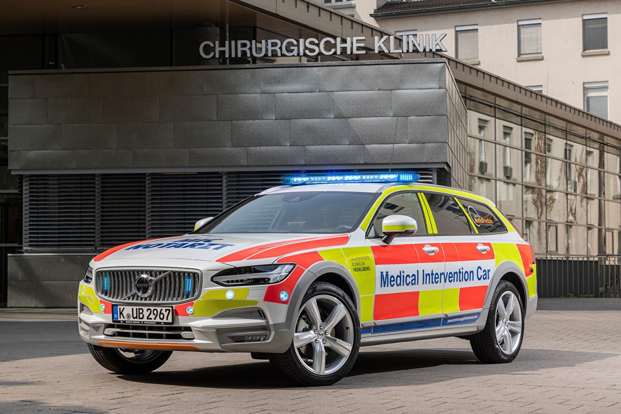 Картинки Тюнинг Вольво Универсал 2019 V90 Cross Country Medical Intervention Car авто Volvo Стайлинг машина машины автомобиль Автомобили