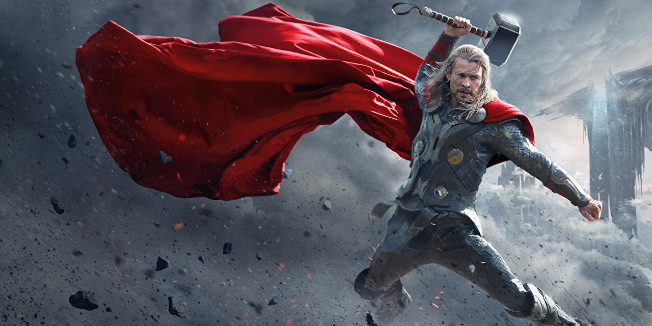 Картинки Тор 2: Царство тьмы Chris Hemsworth доспехах Тор герой воины Мужчины кино плащом Знаменитости Крис Хемсворт броня броне Доспехи доспехе воин мужчина Воители Фильмы Плащ плаще