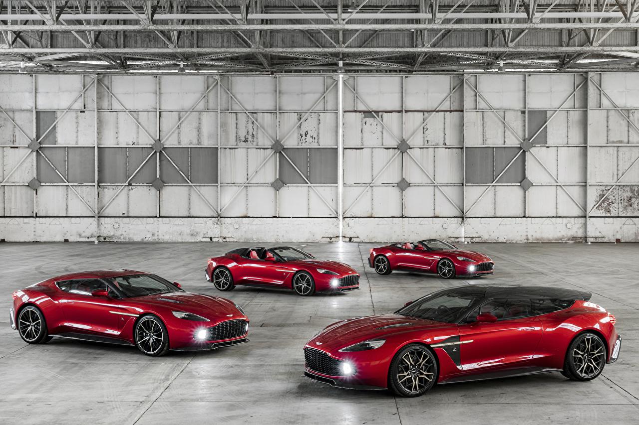 Картинка Астон мартин 2016-18 Vanquish Zagato красных бордовая авто Металлик Aston Martin красная Красный красные бордовые Бордовый темно красный машина машины автомобиль Автомобили