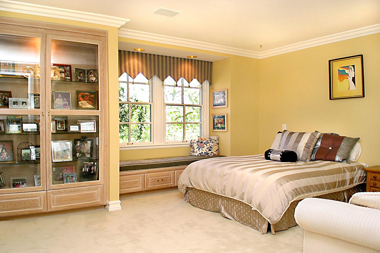Фото Спальня Интерьер Кровать Подушки Дизайн