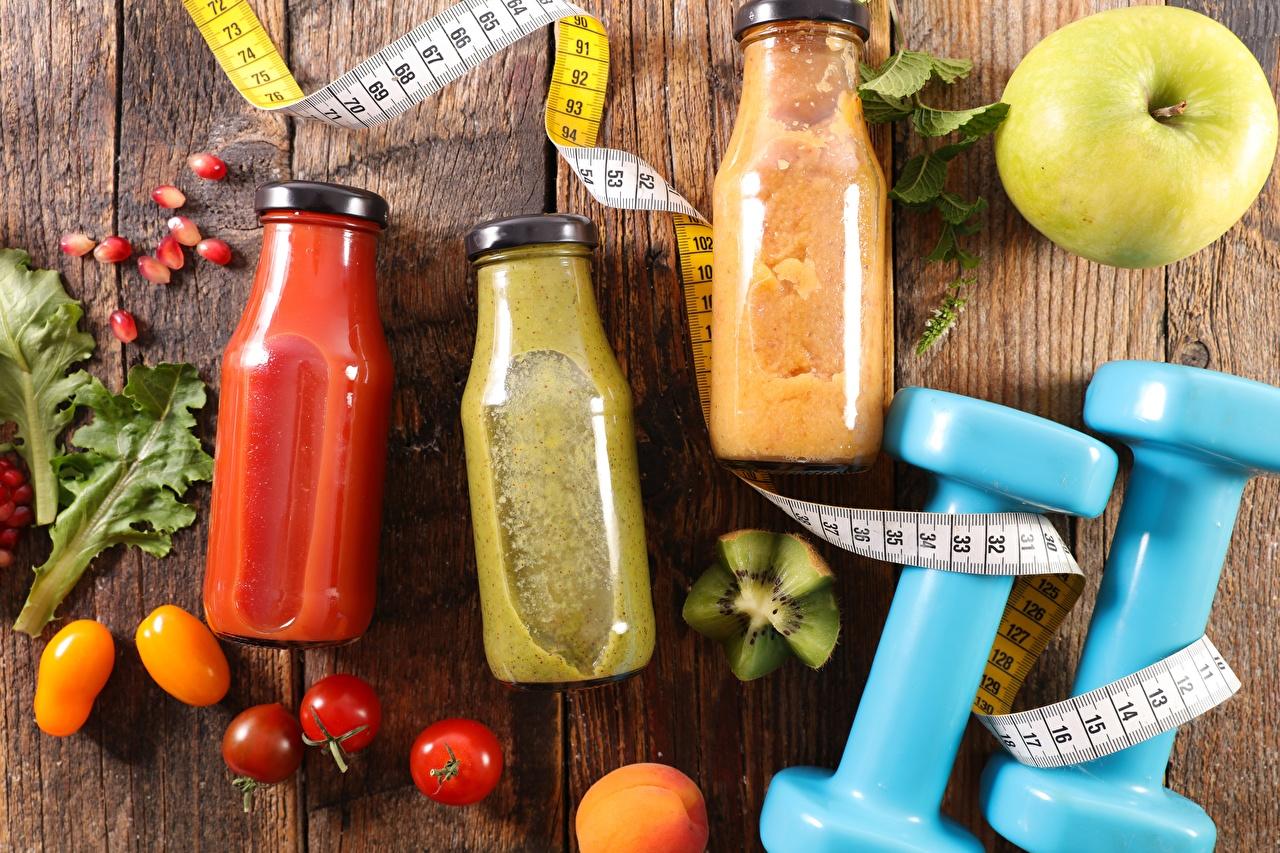 Картинка Фитнес Измерительная лента Гантели Банка Пища Напитки мерная лента Еда Продукты питания