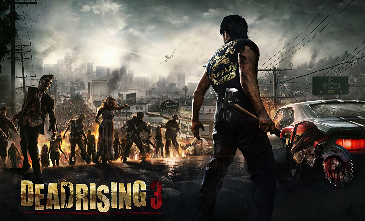 Фото Dead Rising Зомби воин мужчина 3 Игры воины Воители Мужчины компьютерная игра