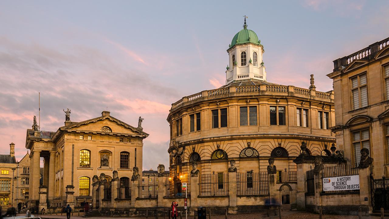 Картинка Англия Oxford, Sheldonian Theatre Дома Города город Здания