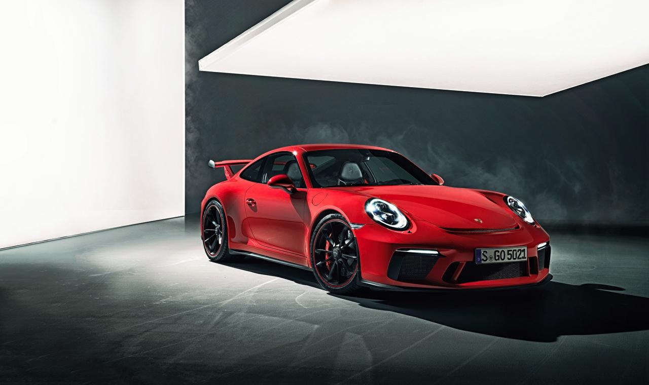 Обои для рабочего стола Порше 911 GT3 Красный автомобиль Porsche красная красные красных авто машины машина Автомобили
