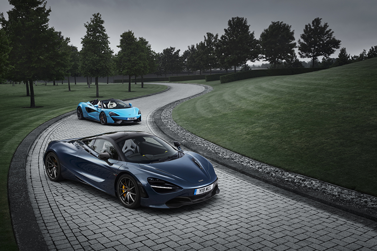 Картинки McLaren вдвоем Авто Макларен 2 Двое Машины Автомобили