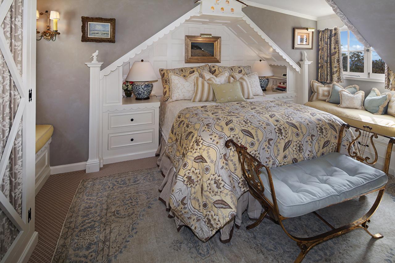Картинка Спальня Интерьер кровати дизайна спальни спальне постель Кровать Дизайн