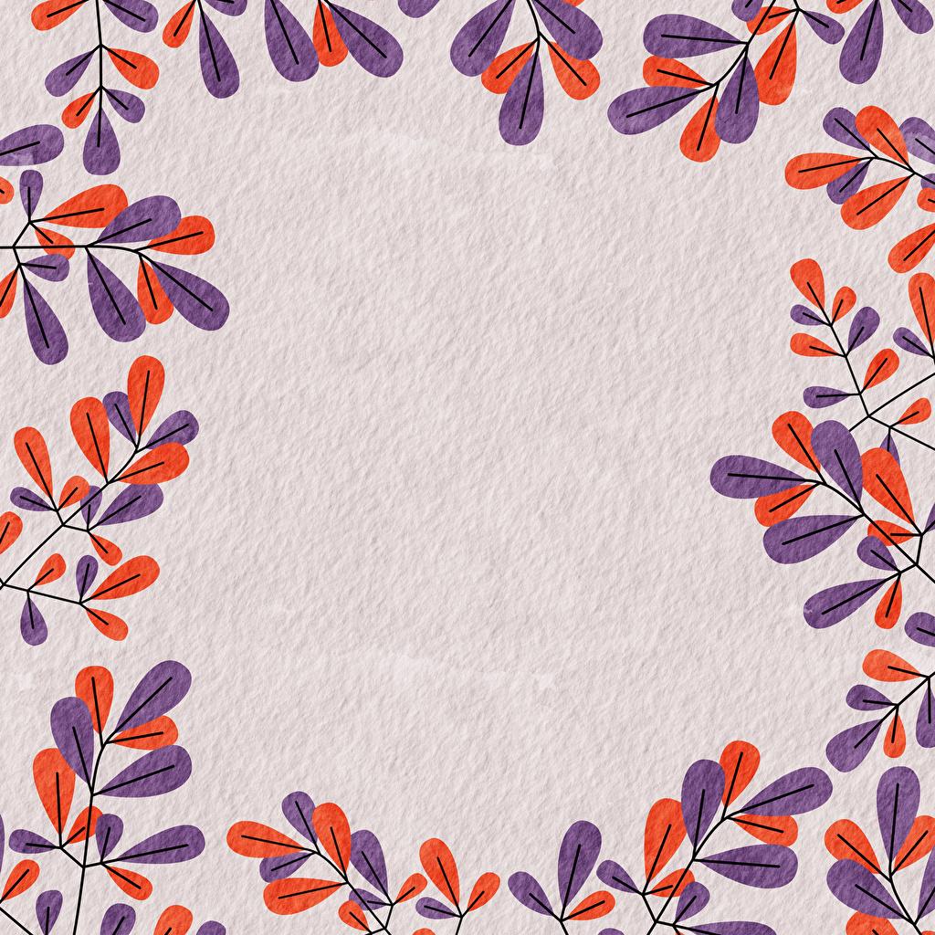 Фотографии Листва Бумага Ветки Шаблон поздравительной открытки Рисованные лист Листья бумаге бумаги ветвь ветка на ветке