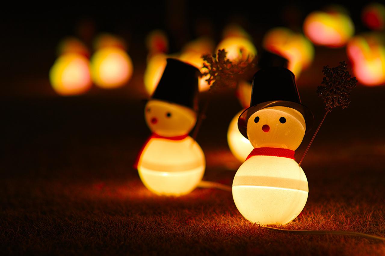 Фотографии снеговик вблизи игрушка Снеговики снеговика Игрушки Крупным планом