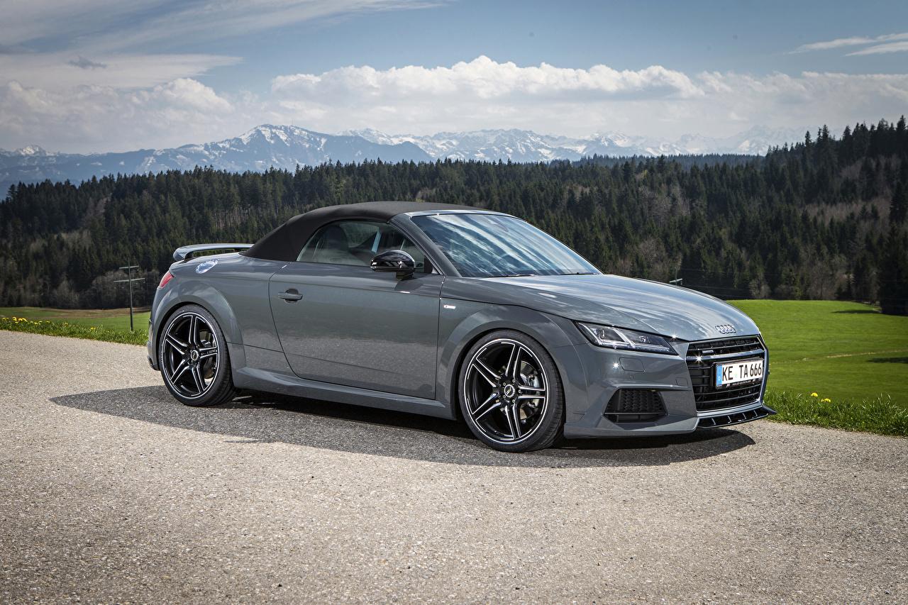 Фото Audi 2015 TT roadster (Abt) Родстер Серый Авто Металлик Ауди Машины Автомобили